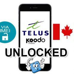 Liberar / Unlock de iPhone Canada Telus & Koodo por IMEI (Todos los Modelos)
