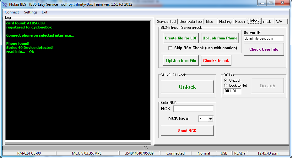 Tutoriales  Nokia_SL3_detectado