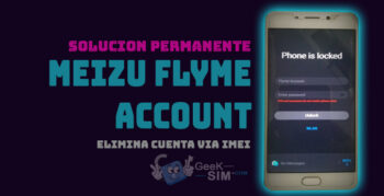 Servicio Eliminar Cuenta Meizu Flyme via IMEI