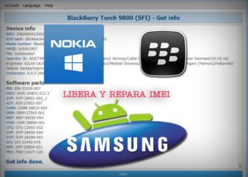 Libera y Repara IMEI de Nokia Lumia, Blackberry y Samsung Galaxy via USB