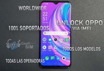 Liberar / Unlock Telefonos Oppo via IMEI (Cambio de Compañia)