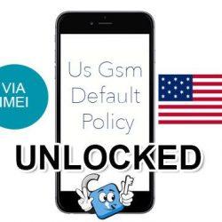 Liberar / Unlock de iPhone US GSM Default Policy por IMEI (Todos los Modelos)