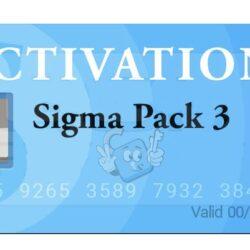 Activacion Sigma Pack 3 para Sigma Box / Key