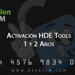 Activación HDE Tools