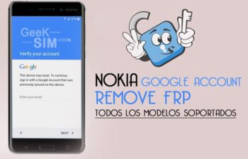 Eliminar Cuenta Google Nokia FRP Lock Remove