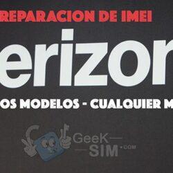 Reparacion de IMEI USA Verizon (Multimarca)