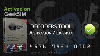 Decoders-Tool Activacion / Licencia