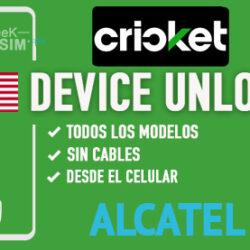 Liberar Alcatel Cricket USA via Device Unlock [Todos los Modelos]
