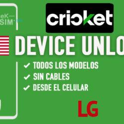 Liberar LG Cricket USA via Device Unlock [Todos los Modelos]
