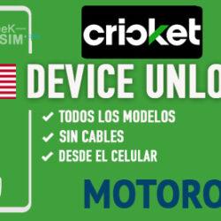 Liberar Motorola Cricket USA via Device Unlock [Todos los Modelos]