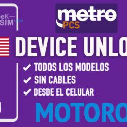 Liberar Motorola Metro PCS USA via Device Unlock [Todos los Modelos]