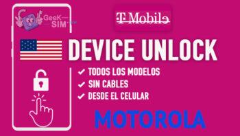 Liberar Motorola T-Mobile USA via Device Unlock [Todos los Modelos]