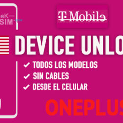 Liberar OnePlus T-Mobile USA via Device Unlock [Todos los Modelos]