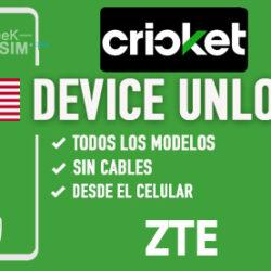 Liberar ZTE Cricket USA via Device Unlock [Todos los Modelos]