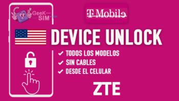 Liberar ZTE T-Mobile USA via Device Unlock [Todos los Modelos]